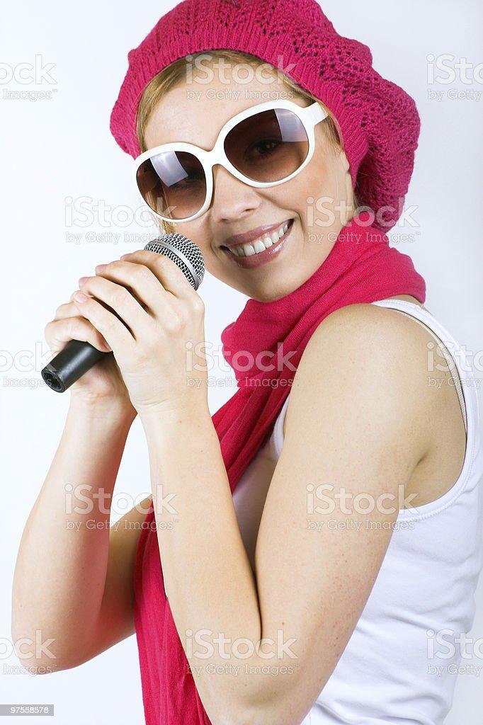 Chant femme photo libre de droits