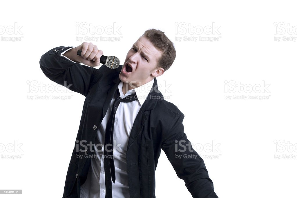 Singing Young Man royalty-free stock photo