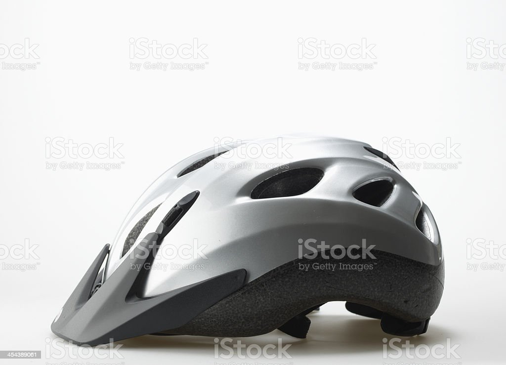 Single Bicycle Helmet stock photo