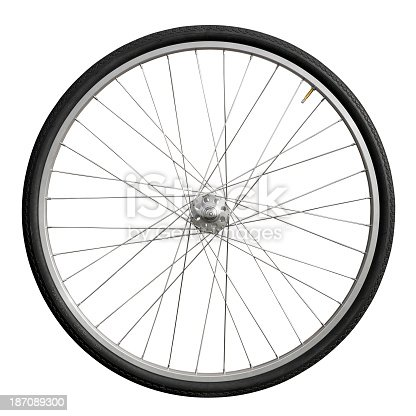 Bicycle wheel with vintage racing hub.
