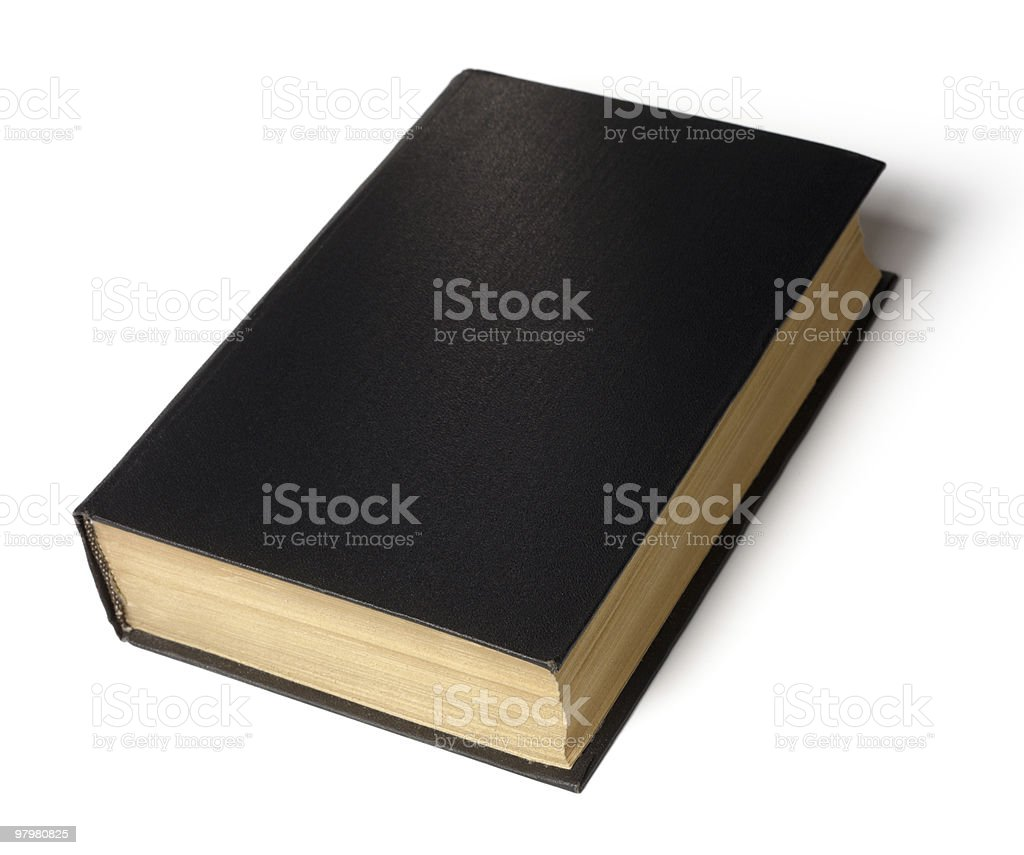 Single black book royalty-free stock photo