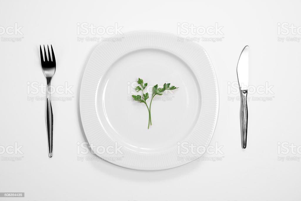 Single black parsley stock photo