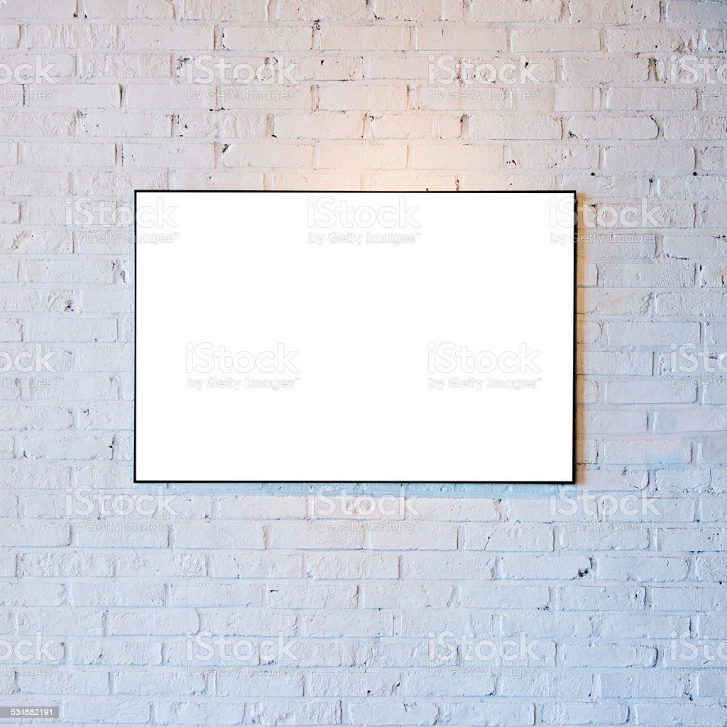 Single blank frames stock photo