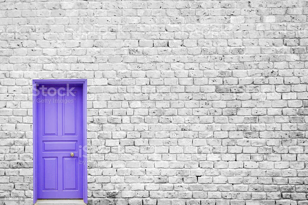 Single Blue Door stock photo