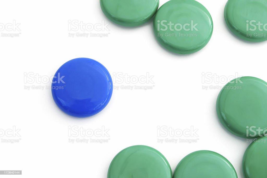Single Blue Dot II royalty-free stock photo
