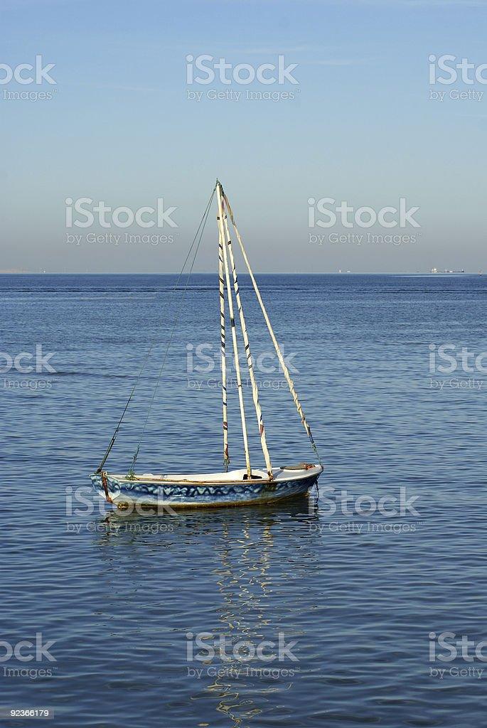 Single boat royalty-free stock photo