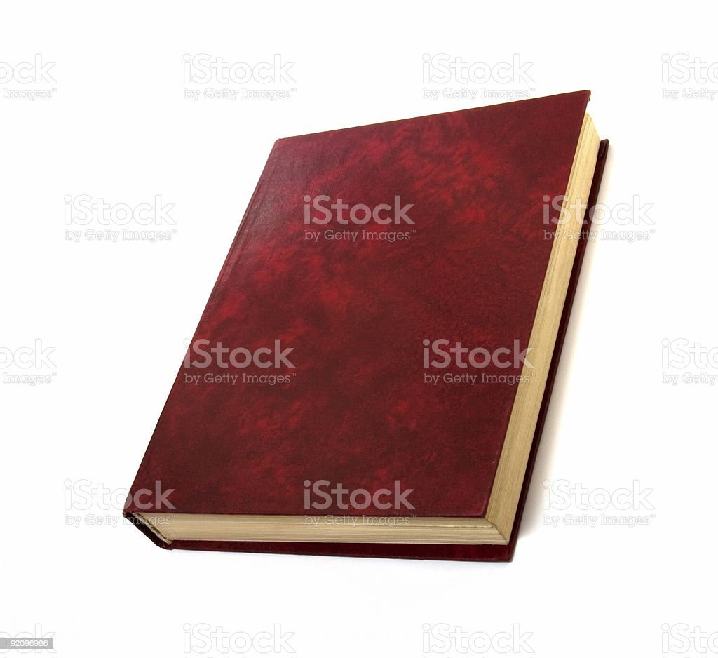single book isolated on white royalty-free stock photo