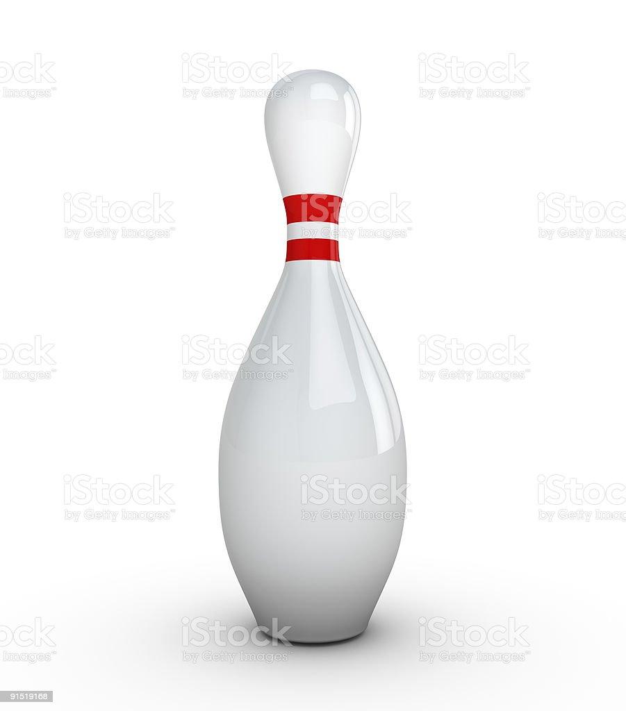 Birillo da bowling originale con fondo bianco//nero da decorare a piacere