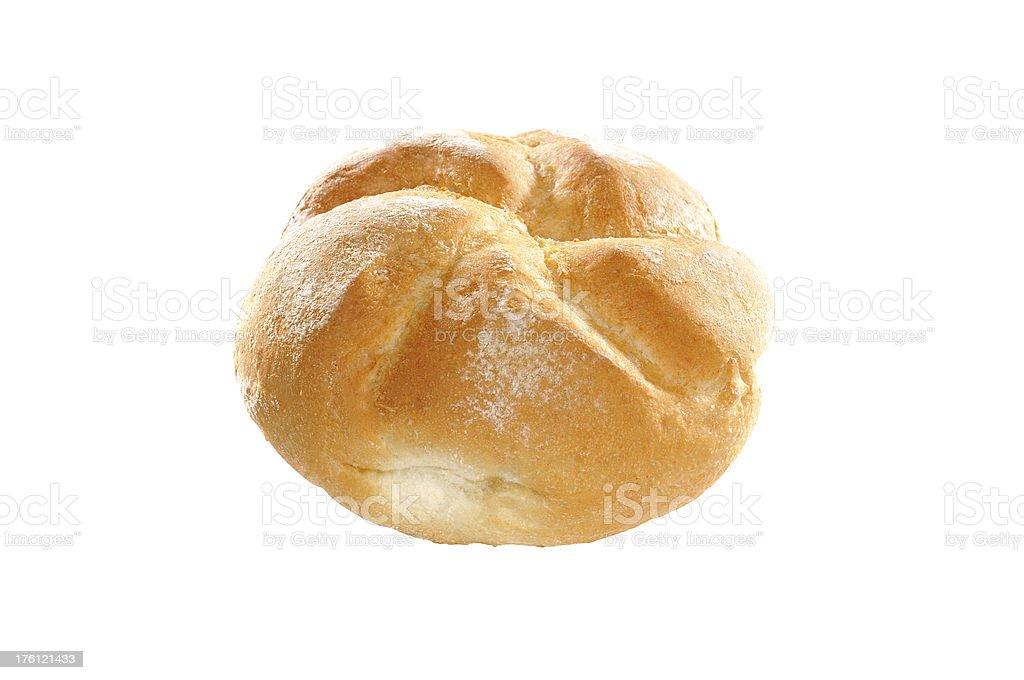 Single bread roll royalty-free stock photo
