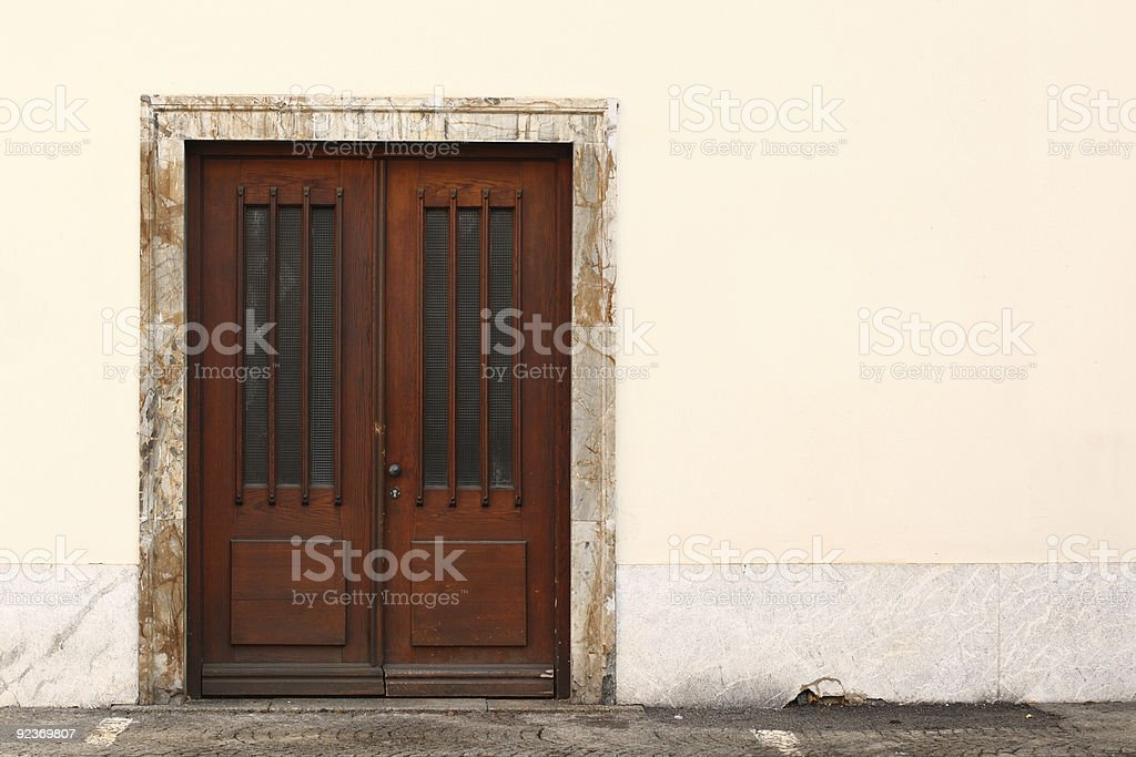 Single Brown Door royalty-free stock photo