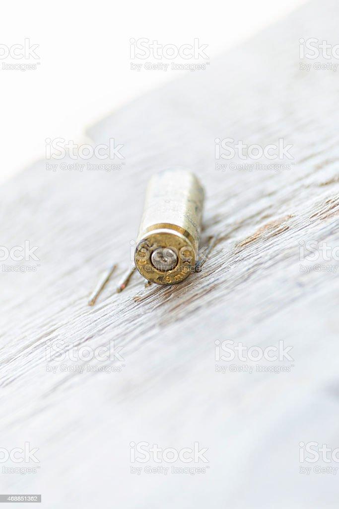 single bullet stock photo