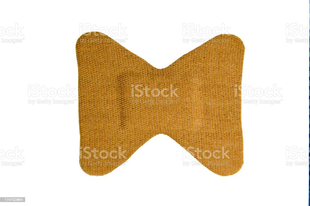Single Butterfly Bandage With Clipping path stock photo