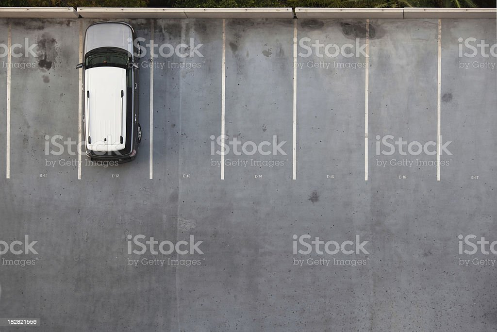 Single Car on a Parking Lot stock photo