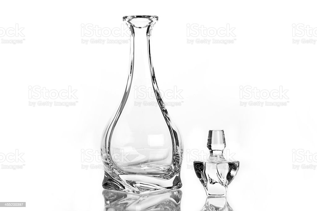 Single carafe isolated stock photo