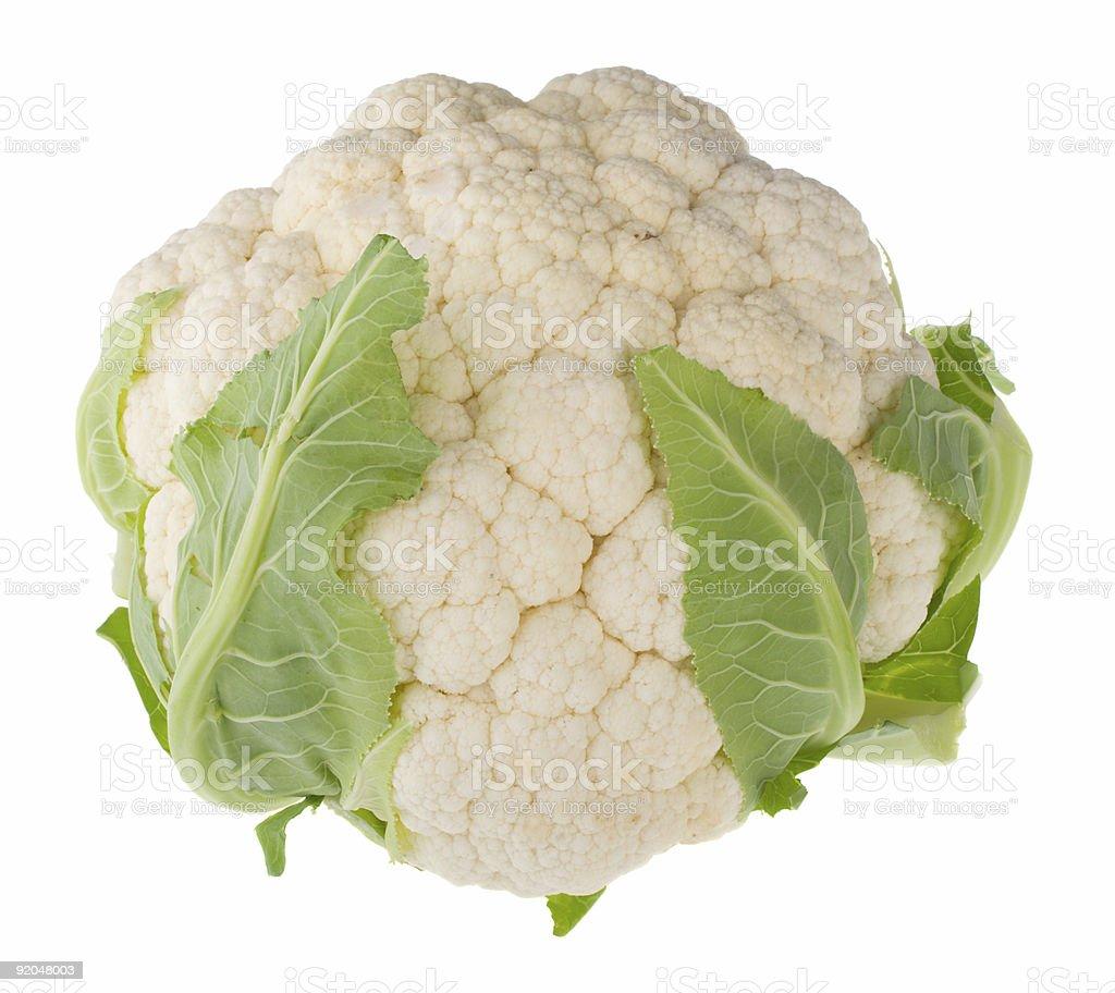single cauliflower royalty-free stock photo