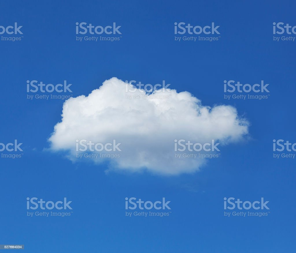Single Cloud Against Blue Sky stock photo
