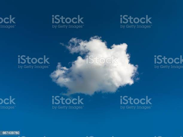 Photo of Single cloud central in blue sky