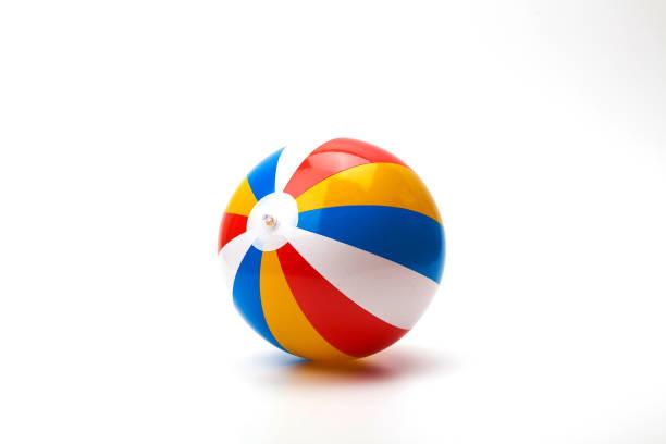 Isoler seul ballon de plage colorée PVC gonflable - Photo