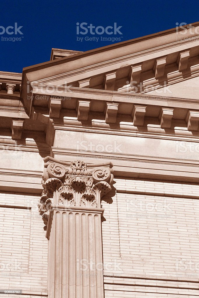 Single Column and Architectural Details royalty-free stock photo