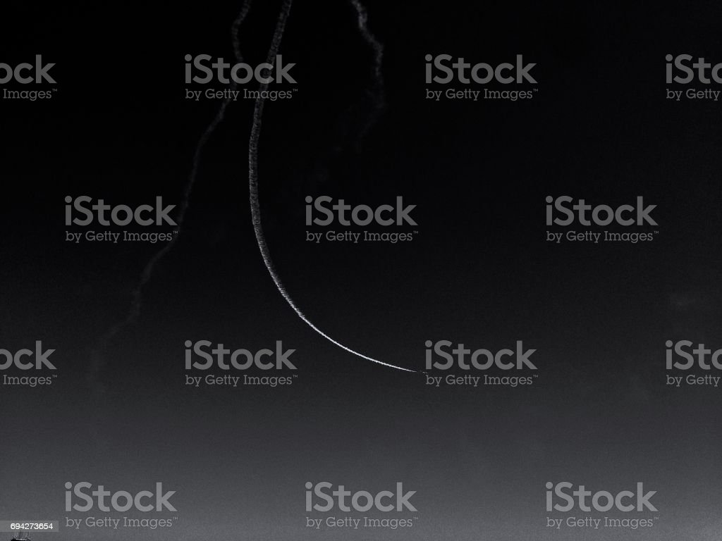 Single Contrail stock photo