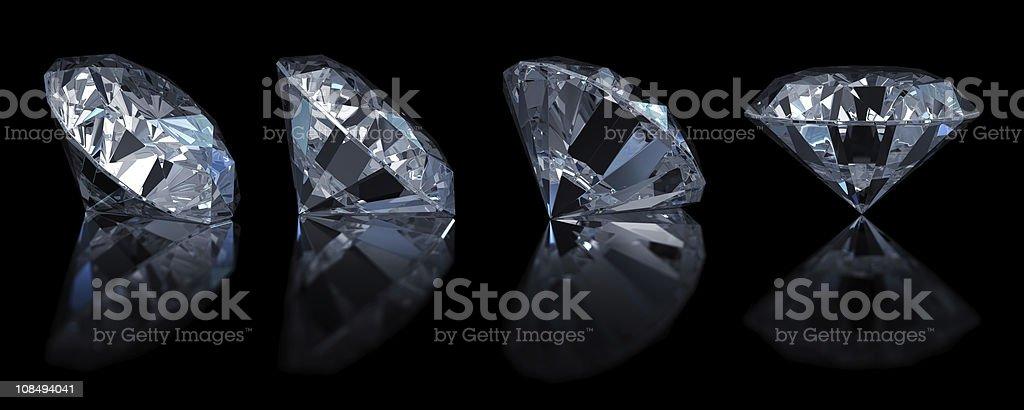 Single diamond (4 position) stock photo