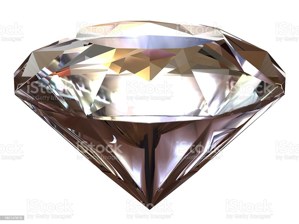 Single diamond royalty-free stock photo