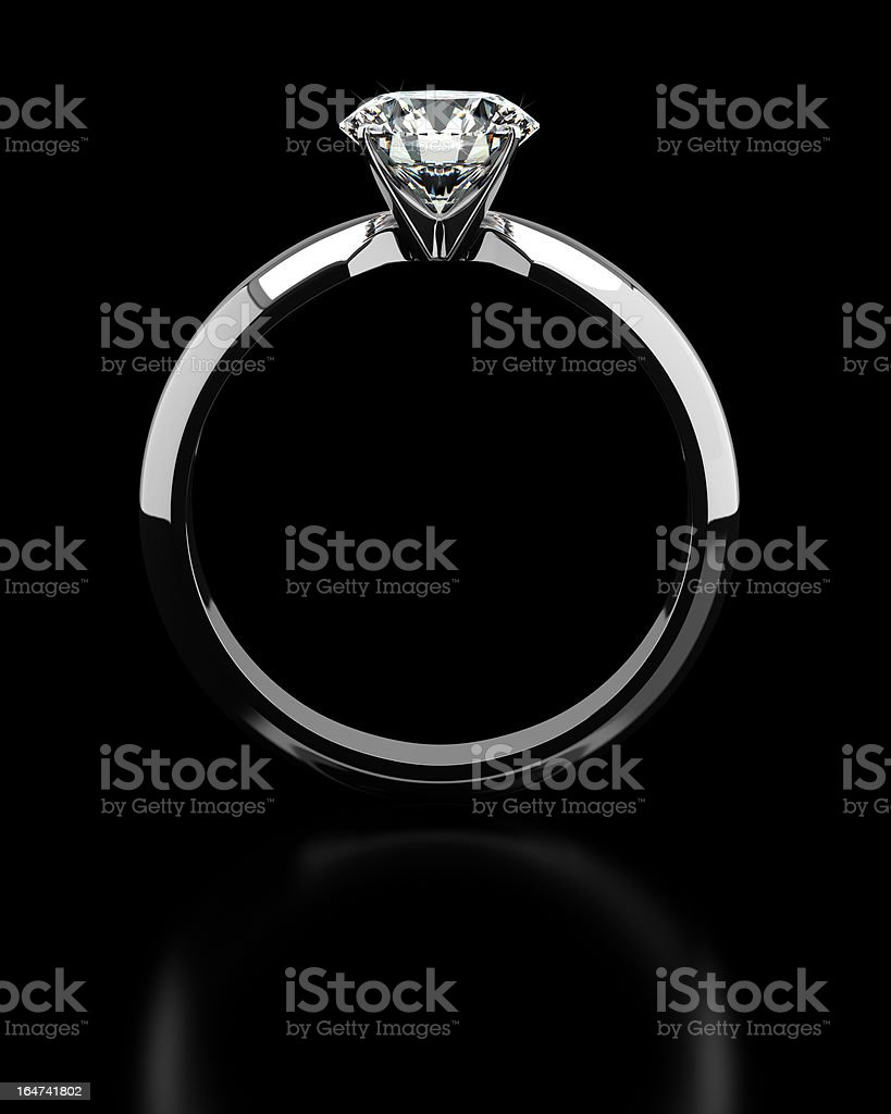 Single Diamond Ring royalty-free stock photo
