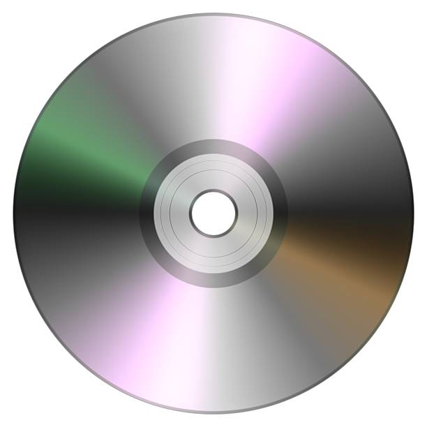 Single disc cd dvd isolated on white background. stock photo