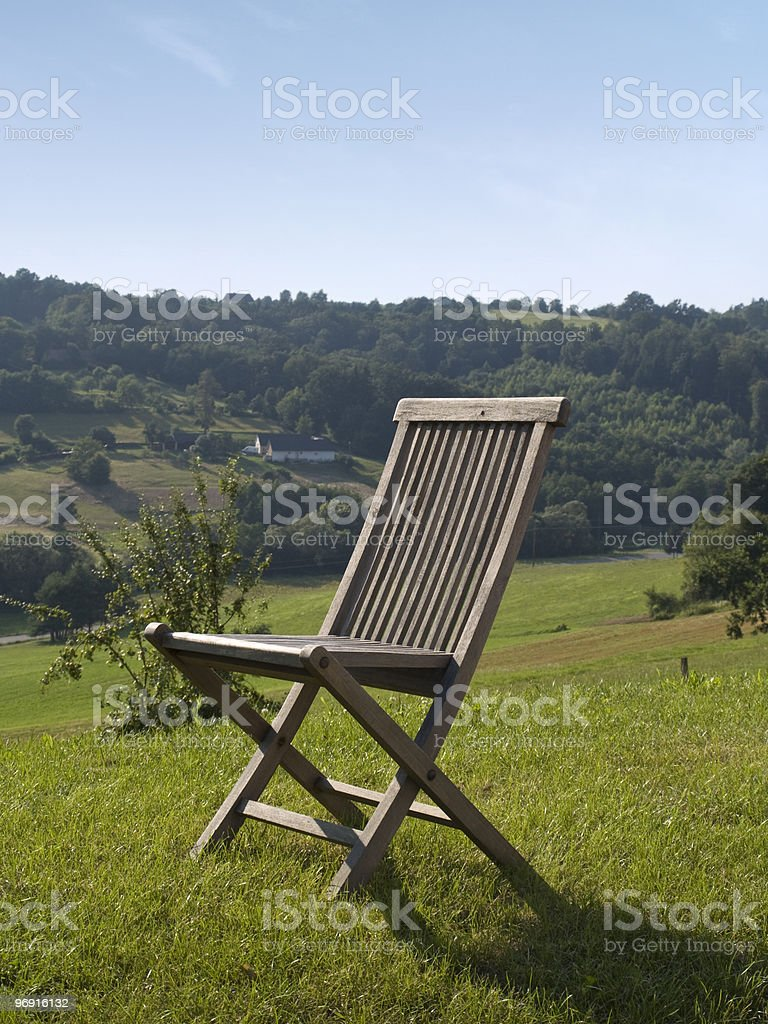 single empty chair royalty-free stock photo