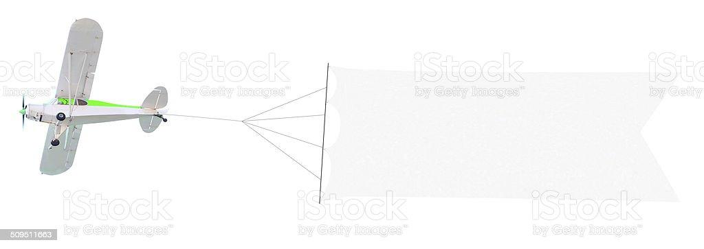 Moteur d'avion avec une bannière - Photo