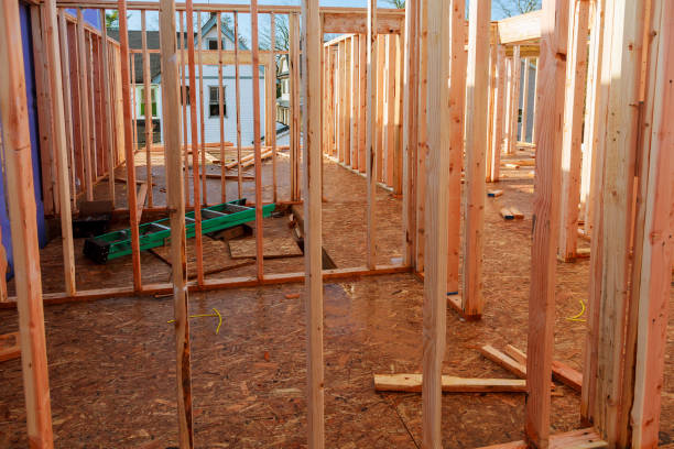 single family home construction - building a new wood framed house - petticoat stock pictures, royalty-free photos & images