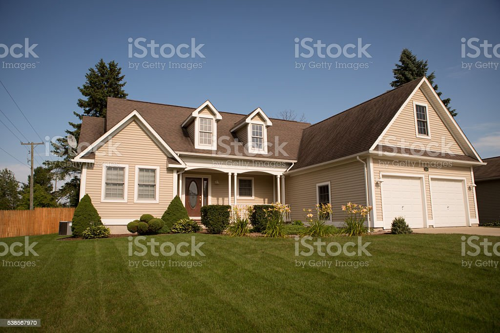 Single Family Ranch Home in Eastern Michigan, House royalty-free stock photo