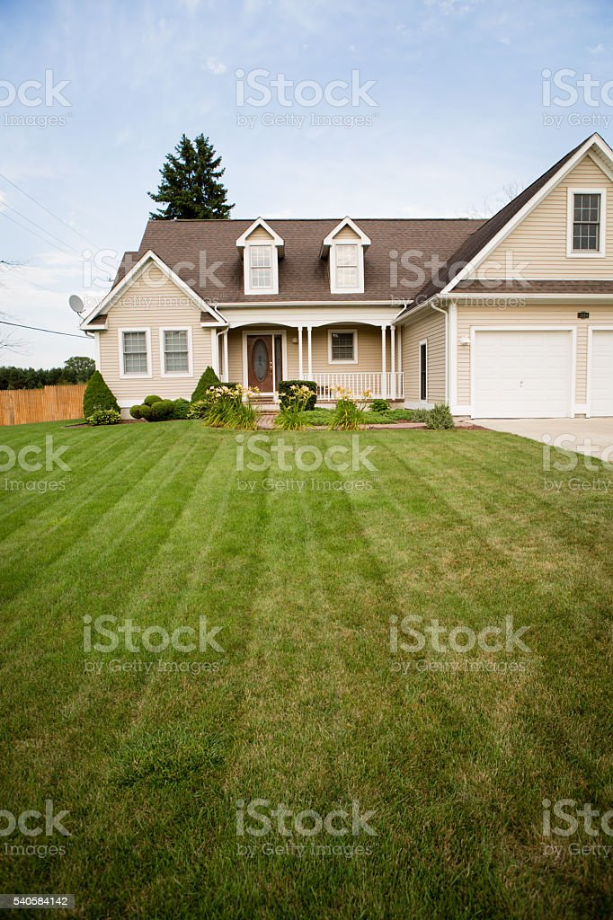 Single Family Ranch Home in Eastern Michigan, House stock photo