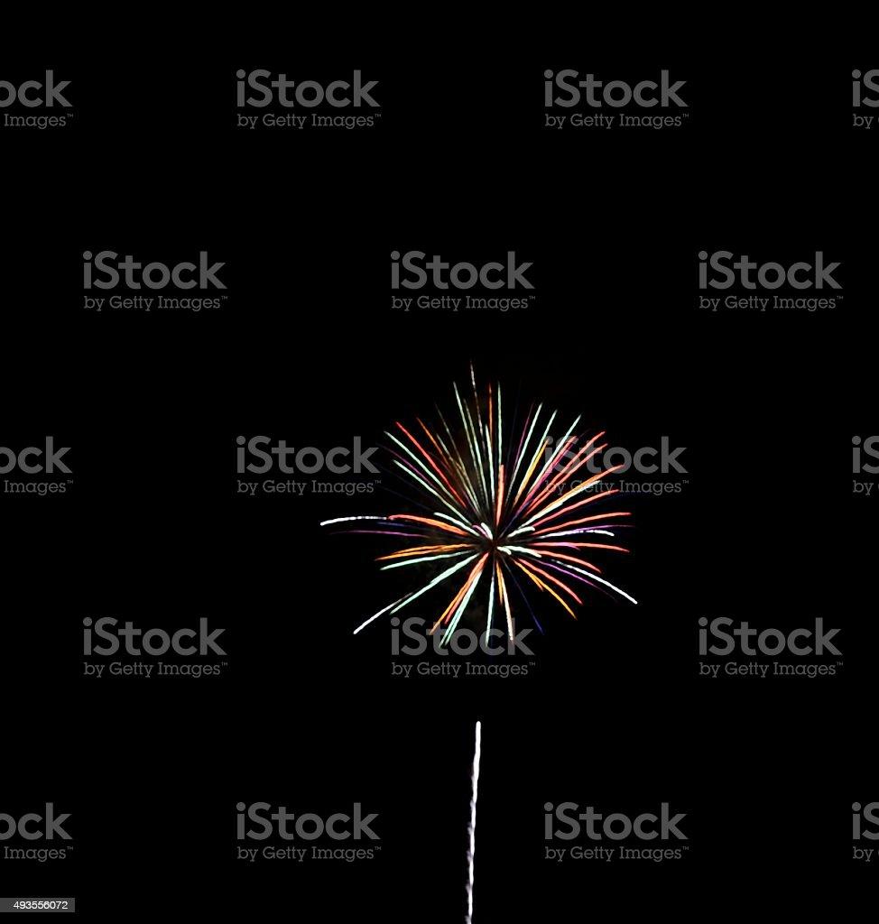 Single Firework stock photo