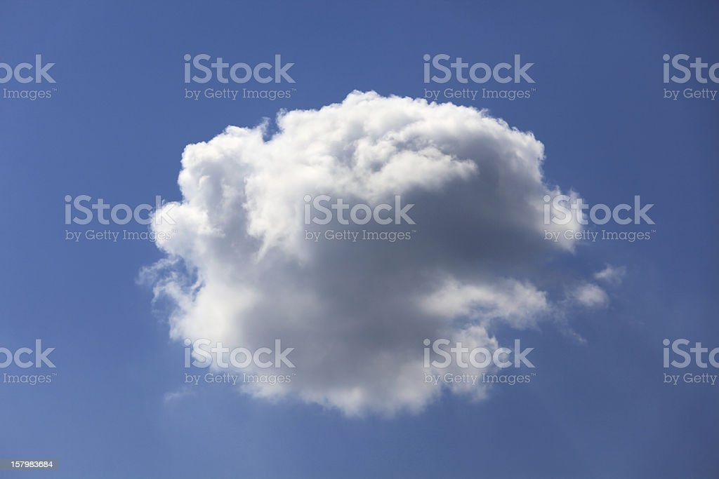 Single fluffy cloud. royalty-free stock photo
