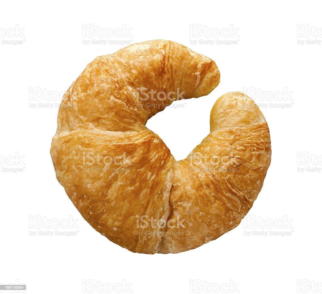 Single Fresh Croissant isolated stock photo
