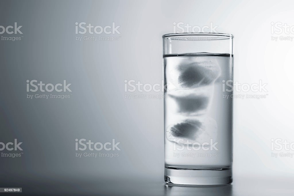 Single Glass of Ice Water royalty-free stock photo