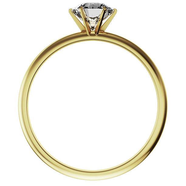 Gold diamond-ring – Foto