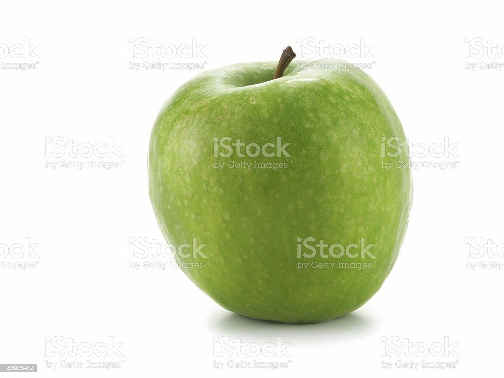Single green apple royalty-free stock photo