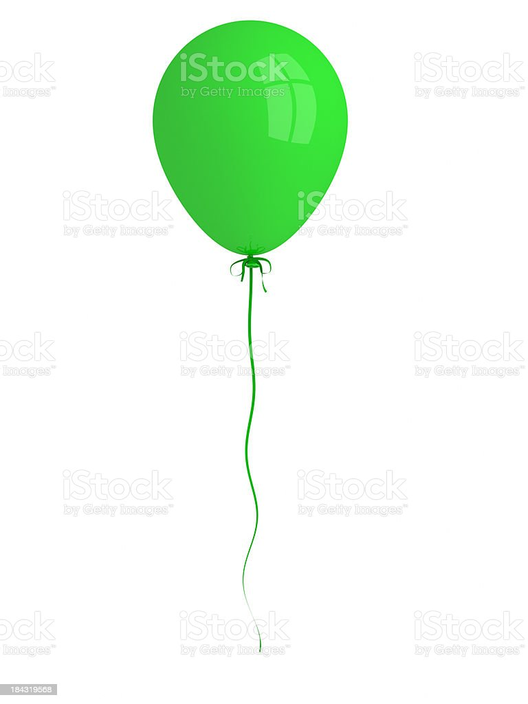 Single Green Balloon stock photo