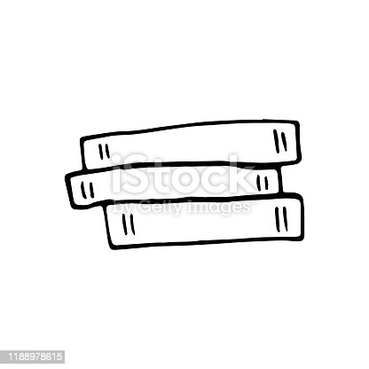 istock Single hand drawn book. Doodle vector illustration in cute scandinavian style. Element for greeting cards, posters, stickers and seasonal design. Isolated on white background 1188978615