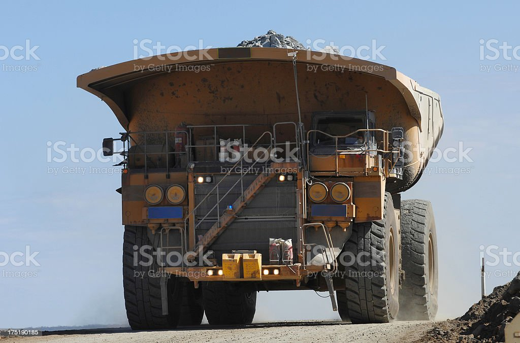 Single haul truck driving on a minesite. royalty-free stock photo