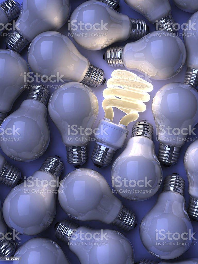 Kompakte fluoreszierender Lampe – Foto