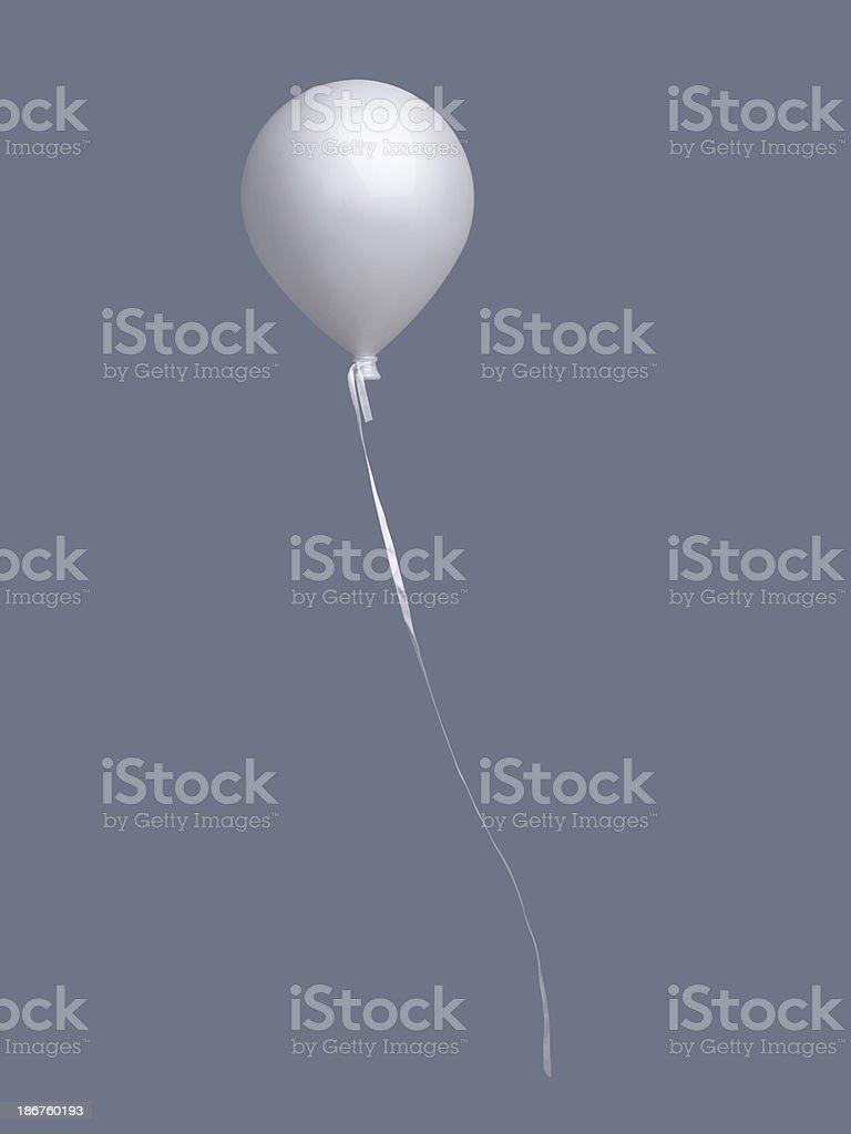 single isolated baloon royalty-free stock photo