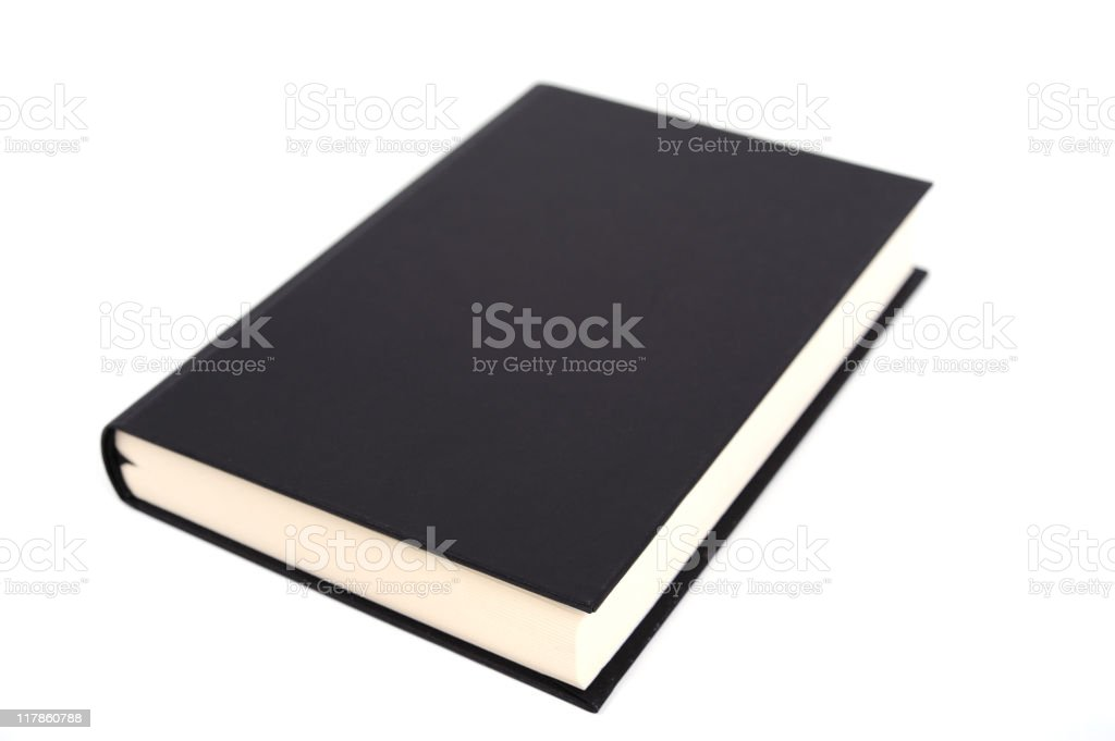 Single isolated book royalty-free stock photo