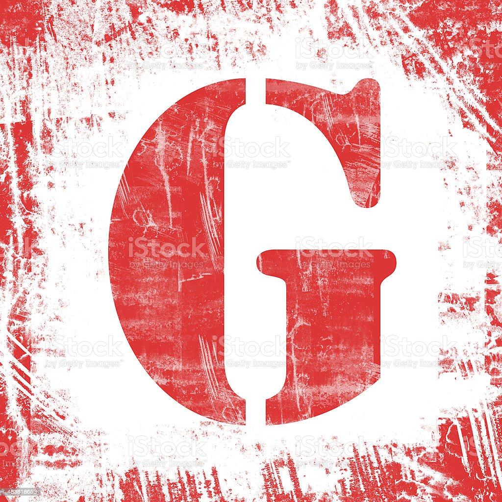 Single Letter G Stamp, Grunge Design royalty-free stock photo