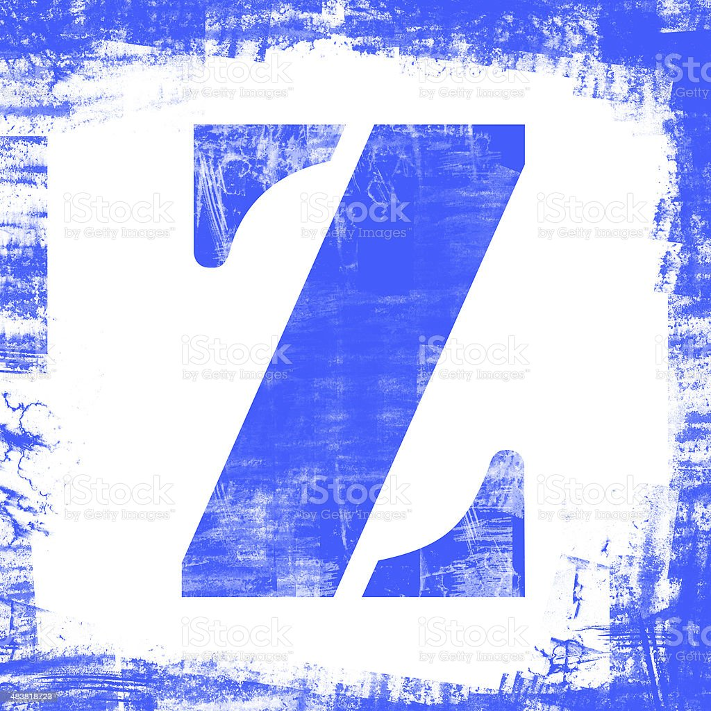 Single Letter Z Stamp, Grunge Design royalty-free stock photo
