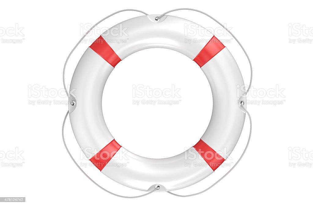 single lifebuoy closeup stock photo