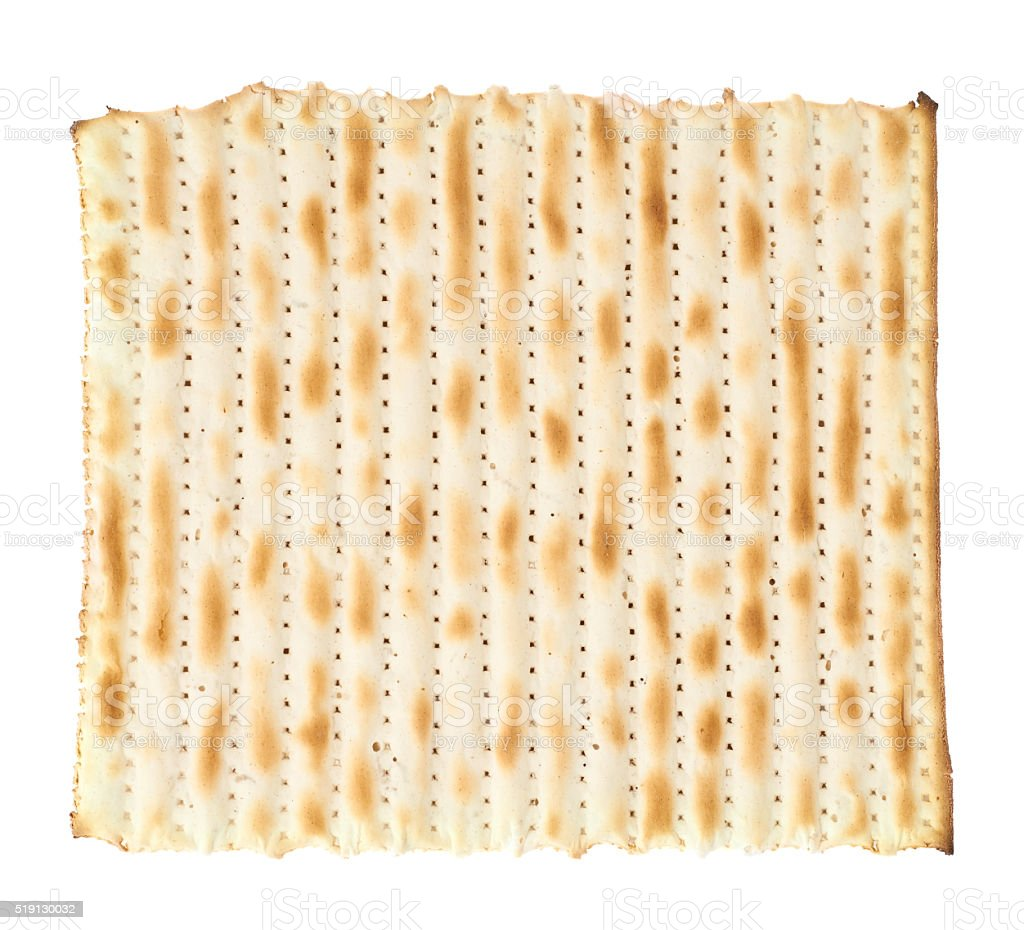 Single machine made matza flatbread stock photo