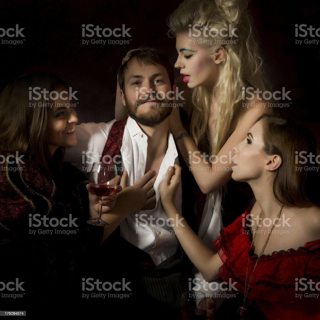 Single Man stock photo